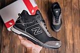 Мужские зимние кожаные кроссовки NB Clasic Black, фото 10
