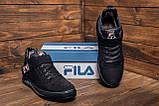 Мужские зимние кожаные ботинки FILA Black, фото 8