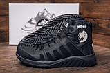 Мужские зимние кожаные ботинки Pitbull Black, фото 7