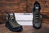 Мужские зимние кожаные ботинки Pitbull Olive, фото 8