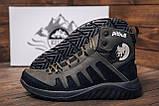 Мужские зимние кожаные ботинки Pitbull Olive, фото 10