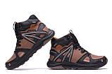 Мужские зимние кожаные ботинки MERRELL SLAB Olive, фото 5