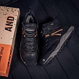 Мужские зимние кожаные ботинки MERRELL Black, фото 7