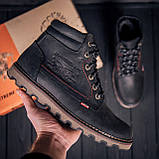 Мужские зимние кожаные ботинки Levis Expensive Black, фото 5