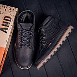 Мужские зимние кожаные ботинки Levis Expensive Black, фото 7