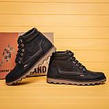 Мужские зимние кожаные ботинки Levis Expensive Black, фото 8