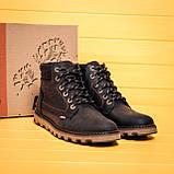Мужские зимние кожаные ботинки Levis Expensive Black, фото 9