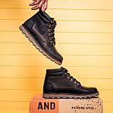 Мужские зимние кожаные ботинки Levis Expensive Black, фото 10