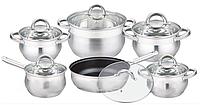Набор посуды Edenberg EB-3720 кастрюли ковш и сковорода из 6 предметов яблочной формы