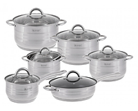 Набор посуды Edenberg EB-3732 кастрюли ковш и сковорода из 6 предметов, фото 1