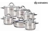 Набор посуды Edenberg EB-4001 кастрюли и сковорода из 6 предметов, фото 1