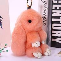 Брелок кролик – модные разноцветные аксессуары в виде зайца и кролика из натурального меха, фото 1