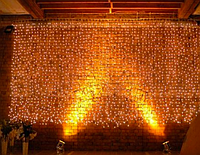 Гирлянда штора улица 200LED 2х2м RD-099 Теплый белый | Новогодняя светодиодная уличная гирлянда, фото 1
