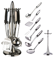 Кухонный набор из 7 предметов Maestro MR-1546 | лопатка | вилка для мяса | половник | шумовка | картофелемялка, фото 1