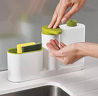 Органайзер для кухонной раковины Sink Tidy Sey   дозатор жидкого мыла   подставка для кухни под мочалки, фото 1