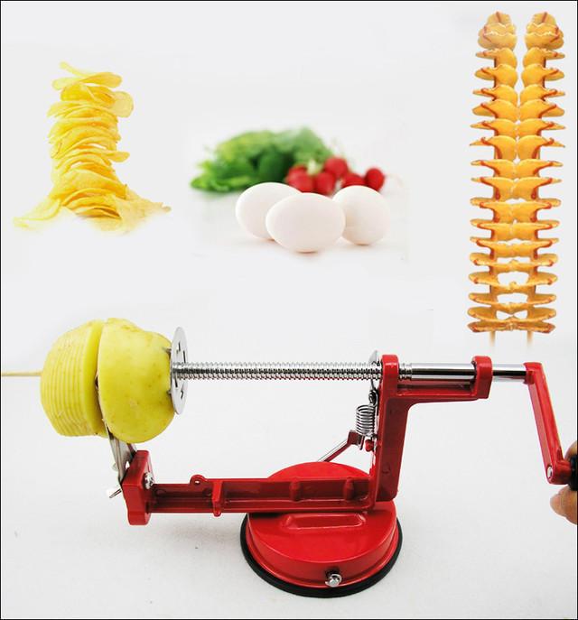 Машинка для спиральной нарезки картофеля Spiral Potato Slicer   картофелерезка   овощерезка   мультирезка