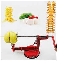 Машинка для спиральной нарезки картофеля Spiral Potato Slicer   картофелерезка   овощерезка   мультирезка, фото 1
