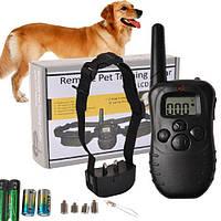 Электроошейник для дрессировки собак Remote Pet Training Collar 998D c ЖК дисплеем и пультом д/у | ошейник, фото 1