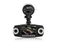 Автомобильный видеорегистратор Double 3 в 1 2 камеры + GPS | авторегистратор | регистратор авто, фото 1