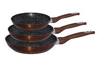 Набор сковородок Edenberg EB-1728 с антипригарным мраморным покрытием 3 предмета, фото 1
