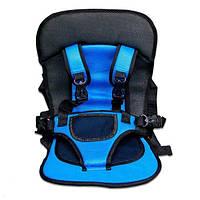 Бескаркасное детское автокресло   кресло для ребенка в машину   детское автомобильное кресло синее