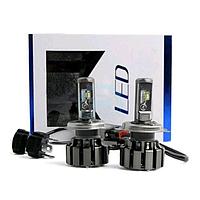 Светодиодные LED лампы T6 H4 для автомобиля | автолампы TurboLed 6000K/8000Lm | автомобильные лед лампы, фото 1