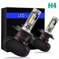 Светодиодные LED лампы S1 H4 для автомобиля   автолампы 6500K 4000lm Цоколь   лед автолампы, фото 1