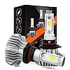 Светодиодные LED лампы S9 H4 для автомобиля   автолампы 6500K 4000lm Цоколь   лед автолампы