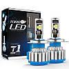 Светодиодные LED лампы T1 H4 для автомобиля   автолампы TurboLed   автомобильные лед лампы