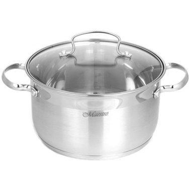 Набор посуды Maestro MR-3520-6M, 6 предметов, нержавеющая сталь | кастрюли с крышками Маэстро, Маестро