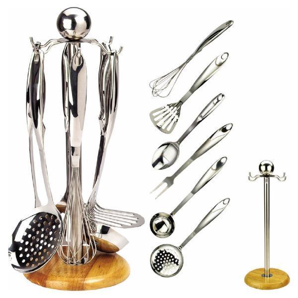 Кухонный набор из 7 предметов Maestro MR-1541 | венчик | вилка для мяса | половник | шумовка | картофелемялка