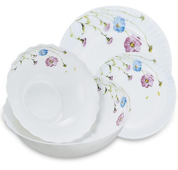 "Столовый набор ""Васильки"" Maestro MR-30066-19S (19 предм) | кухонные тарелки Маэстро | набор тарелок Маестро"