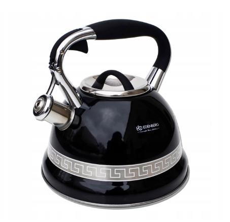 Чайник Edenberg EB-1989 со свистком из нержавеющей стали 3 л | Свистящий металлический чайник