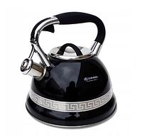Чайник Edenberg EB-1989 со свистком из нержавеющей стали 3 л | Свистящий металлический чайник, фото 1