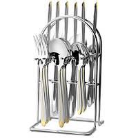 Столовый набор Maestro MR-1528 (24 предмета) | набор столовых приборов Маэстро | ложки и вилки Маестро, фото 1