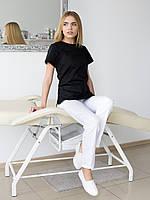 Медицинский женский костюм Жасмин черный-белый, фото 1