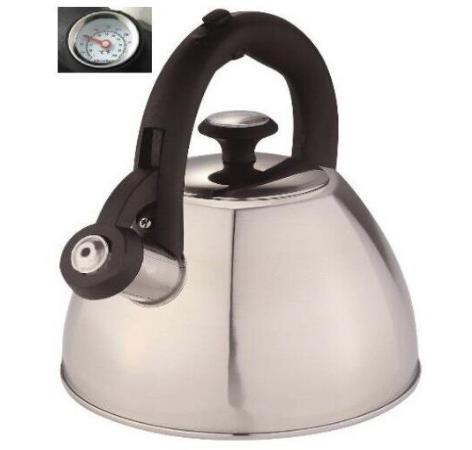 Чайник Edenberg EB-8819 со свистком из нержавеющей стали индикатор температуры 3 л | Свистящий чайник