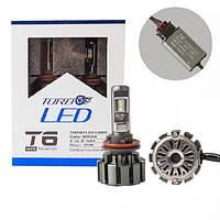Светодиодные LED лампы T6 H11 для автомобиля   автолампы TurboLed 6000K/8000Lm   автомобильные лед лампы, фото 1