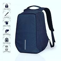 Рюкзак Bobby Антивор синий с USB портом