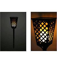 Уличный фонарь на солнечной панели TIKI Light   садовый фонарь с эффектом живого огня, фото 1