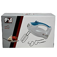 Ручной кухонный миксер Promotec PM-587 на 5 скоростей, венчики для взбивания, венчики для замеса теста, фото 1