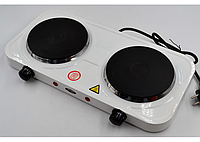 Электроплита WimpeX WX-200А двухконфорочная плита настольная дисковая (2 конфорки), фото 1