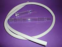 Шланг трубка для кальяна силиконовая, для кальяна акриловый муштук- Белый