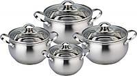 Набор кухонной посуды Con Brio СВ-1151 8 предметов 4 кастрюли с крышками, фото 1