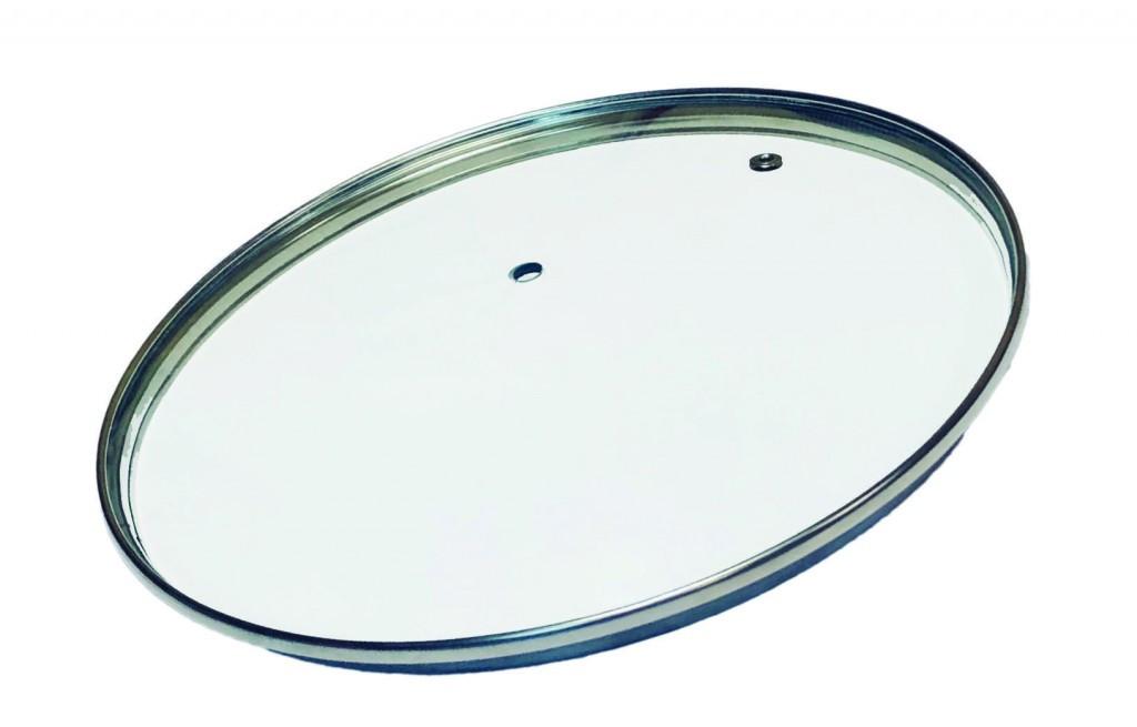 Крышка стеклянная без ручки Con Brio СВ-9020 (20 см) | стеклянная крышка Con Brio | крышка стекло