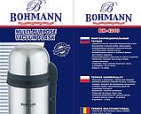 Термос Bohmann BH 4210 з нержавіючої сталі з ручкою і чашкою 1 л   Термочашка, фото 3