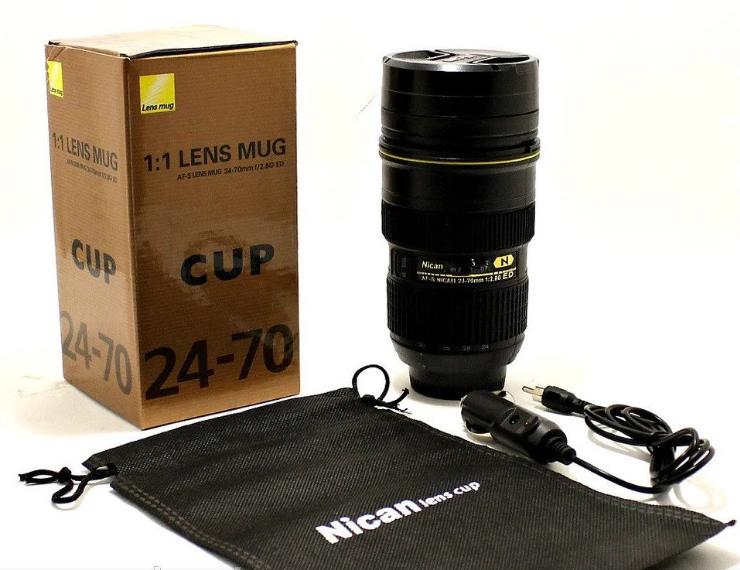 Чашка объектив NICAN Cup   Термо кружка с подогревом