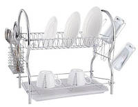 Сушка для посуды Rainbow MAESTRO MR-1026-55 - 2 уровня | кухонная сушилка для посуды Маэстро, Маестро, фото 1