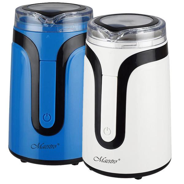 Кофемолка Maestro MR-450 синяя | измельчитель кофе Маэстро | аппарат для помола кофе Маестро