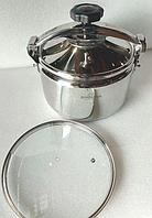 Кастрюля скороварка Bohmann BH 3511 11 л с крышкой нержавеющая сталь, фото 1